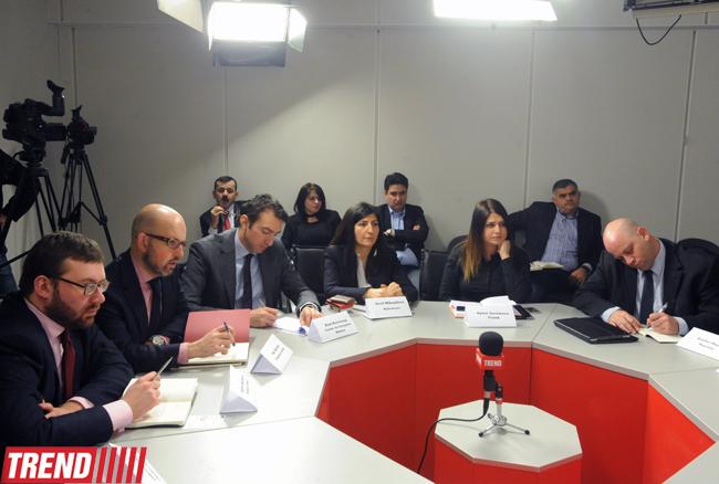 Агентство Trend организовало круглый стол, посвященный роли Азербайджана в мире и регионе (ФОТО)