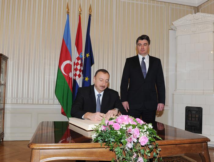 Azerbaijani President meets Croatian Premier (PHOTO)