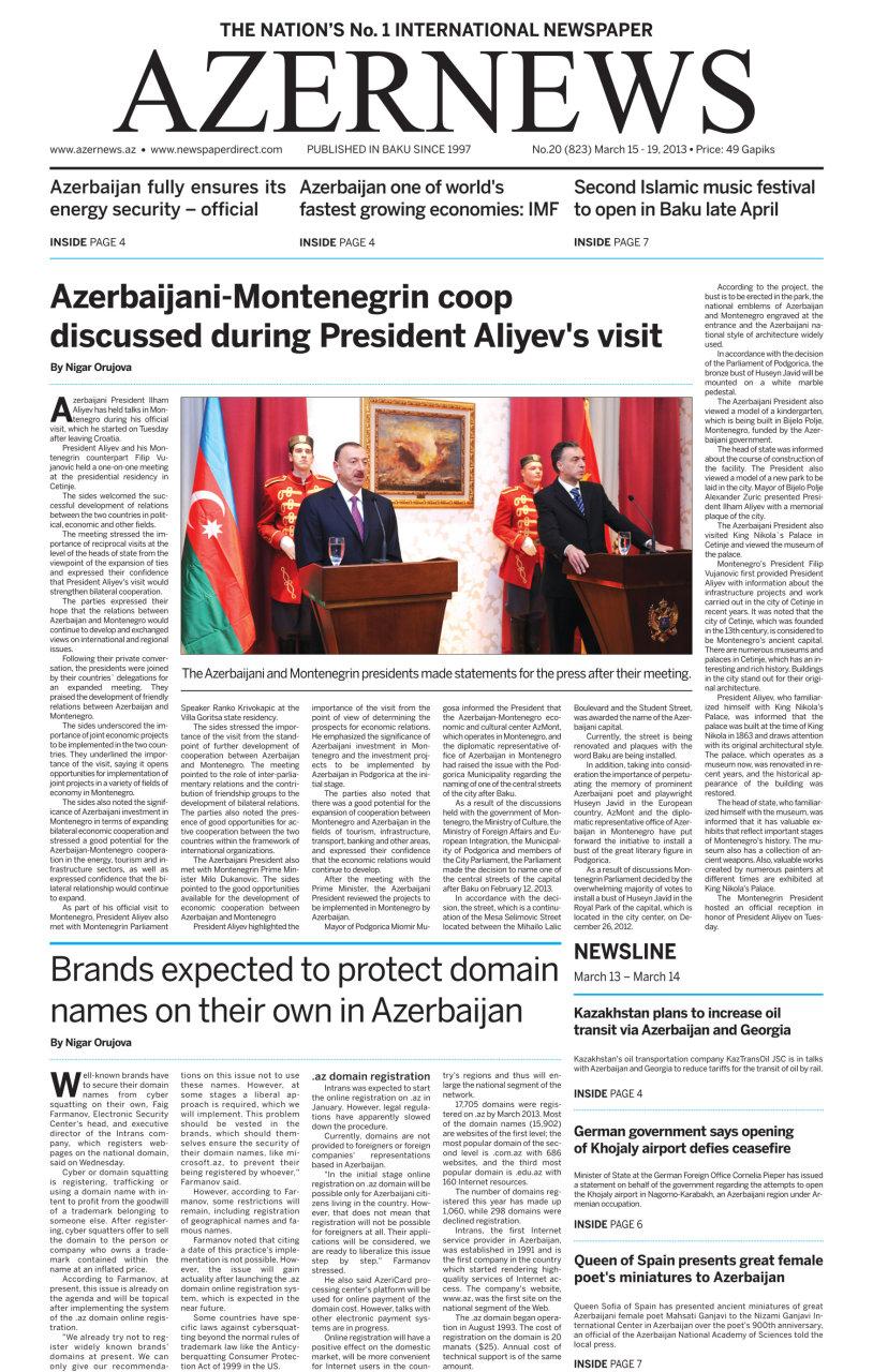 Azerbaijani government is on a good path: OSCE Office Head