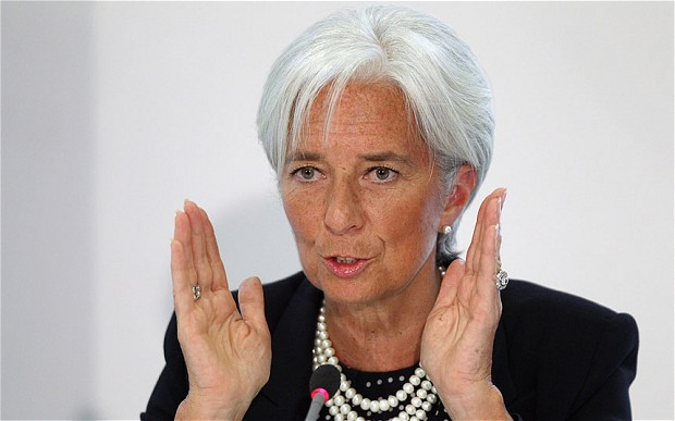 International Monetary Fund chief Christine Lagarde warns world leaders against being complacent about growth