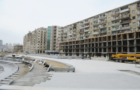 President Ilham Aliyev and his spouse inspects construction work in underground parking, park, garden and fountain complex in Baku (PHOTO)