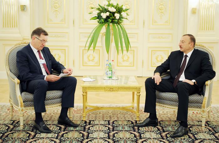 İlham Əliyev Litvanın Baş nazirini qəbul edib