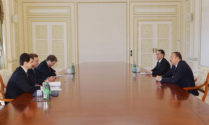 Prezident İlham Əliyev Ukrayna Baş nazirinin müavinini qəbul edib