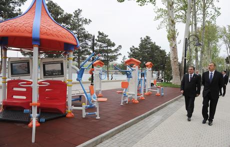 Prezident İlham Əliyev Mingəçevirdə bir sıra sosial infrastruktur obyektlərinin açılışında iştirak edib (FOTO)