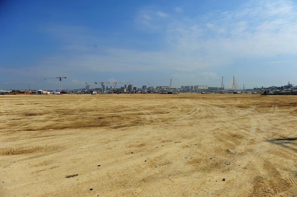 Bakı Olimpiya Stadionunun tikintisi üçün nəzərdə tutulan ərazinin təmizlənməsi yekunlaşıb (FOTO)