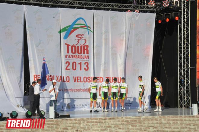 """Bakıda """"Tour d'Azerbaidjan"""" beynəlxalq velosiped turunun açılış mərasimi olub (FOTO)"""
