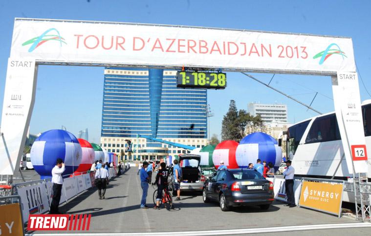 "Стартовал пятый этап международного велотура ""Tour d`Azerbaidjan"" (ФОТО)"