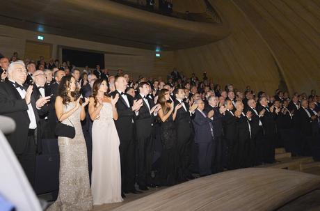Ильхам Алиев и его супруга приняли участие в церемонии, посвященной 90-летнему юбилею общенационального лидера Азербайджана Гейдара Алиева (ФОТО)