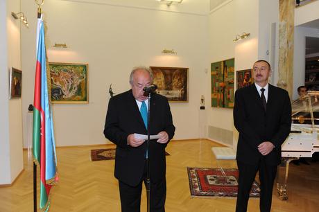 Президент Азербайджана и его супруга приняли участие в открытии Азербайджанского культурного центра в Вене (ФОТО)