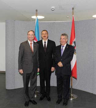 Президенты Азербайджана и Австрии приняли участие в бизнес-форуме, проходящем в Вене (ФОТО)