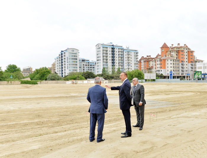 Президент Азербайджана ознакомился с работами, проводимыми в парке Деде Горгуд (ФОТО)