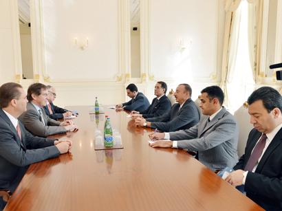 Президент Ильхам Алиев принял делегацию во главе с президентом ПАСЕ
