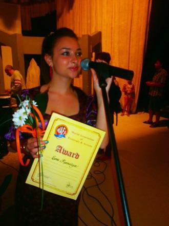 """Азербайджанская певица удостоена специального диплома фестиваля """"Discovery Pop"""" (фото-видео)"""