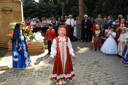 Dahi rus şairi Puşkinin anadan olmasının 214-cü ildönümü Bakıda qeyd edilib (FOTO)