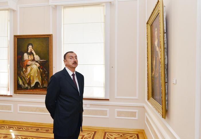 Prezident İlham Əliyev və xanımı Azərbaycan Milli İncəsənət Muzeyinin yeni korpusunun açılışda iştirak ediblər (FOTO)