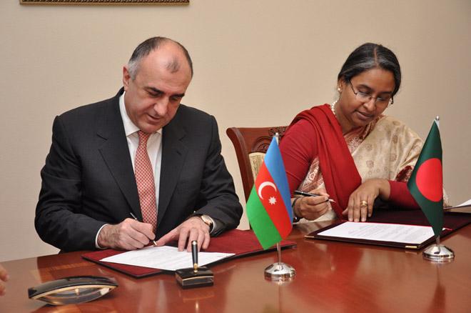 Azərbaycan və Banqladeş siyasi məsləhətləşmələrə dair anlaşma memorandumu imzalayıblar (FOTO)