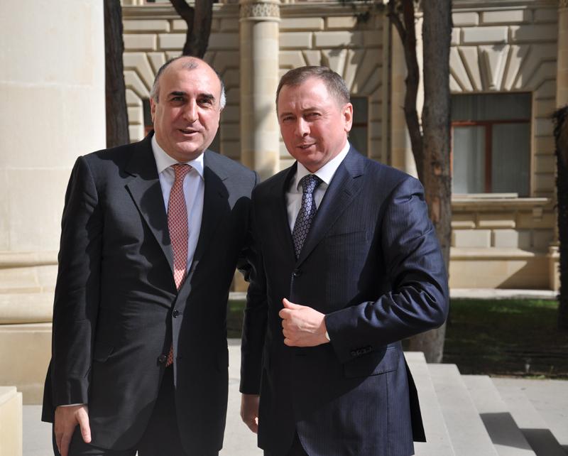 Azərbaycanın xarici işlər naziri belaruslu həmkarı ilə görüşüb (FOTO)