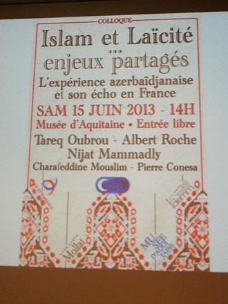 Fransada Azərbaycanda dini tolerantlıq mövzusunda tədbir keçirilib