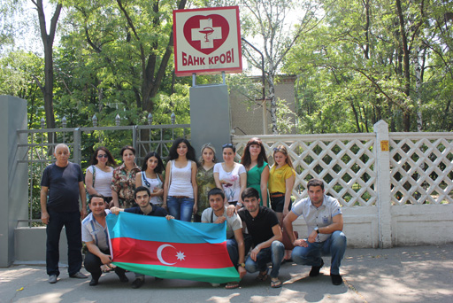 Азербайджанская молодежь провела в Украине акцию, посвященную Всемирному дню донора крови (фото)