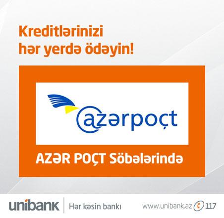 """""""Unibank"""" Azərbaycanın poçt operatoru ilə saziş bağlayıb"""