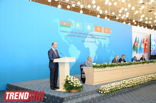 В Баку проходит I Форум глав диаспорских организаций стран Совета сотрудничества тюркоязычных государств (ФОТО)