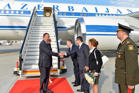 Президент Азербайджана Ильхам Алиев прибыл в Бельгию с рабочим визитом
