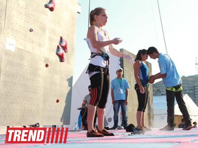 В Баку определились победители Кубка мира по спортивному скалолазанию (ФОТО)
