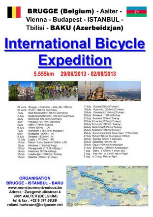 Brugge–İstanbul–Bakı marşrutu ilə beynəlxalq velosiped yürüşünə start verilib (FOTO)