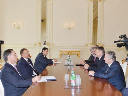 Azerbaijani President receives Slovenian government delegation