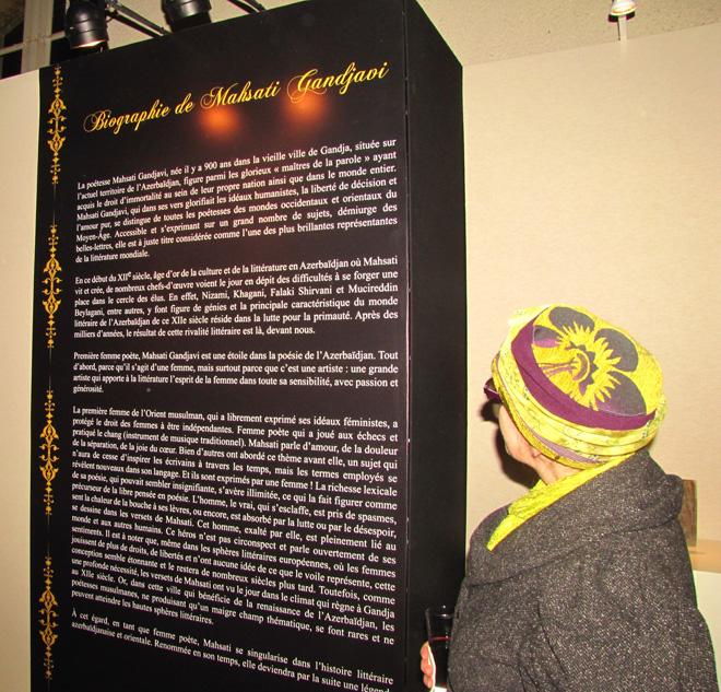 Reymsdə Heydər Əliyev Fondunun təşkilatçılığı ilə Məhsəti Gəncəvinin 900 illiyinə həsr olunan sərgi təşkil edilib  (FOTO)