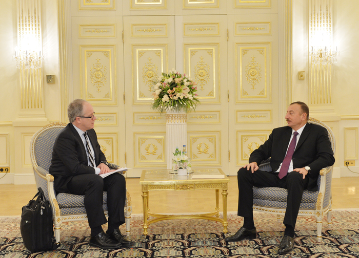 Azerbaijani president receives U.S. acting assistant secretary for Office of Policy and International Affairs