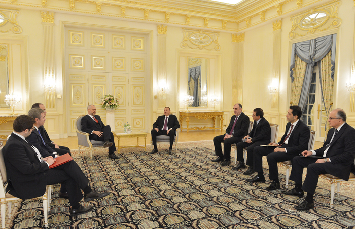 Azerbaijani President Ilham Aliyev receives Albanian PM