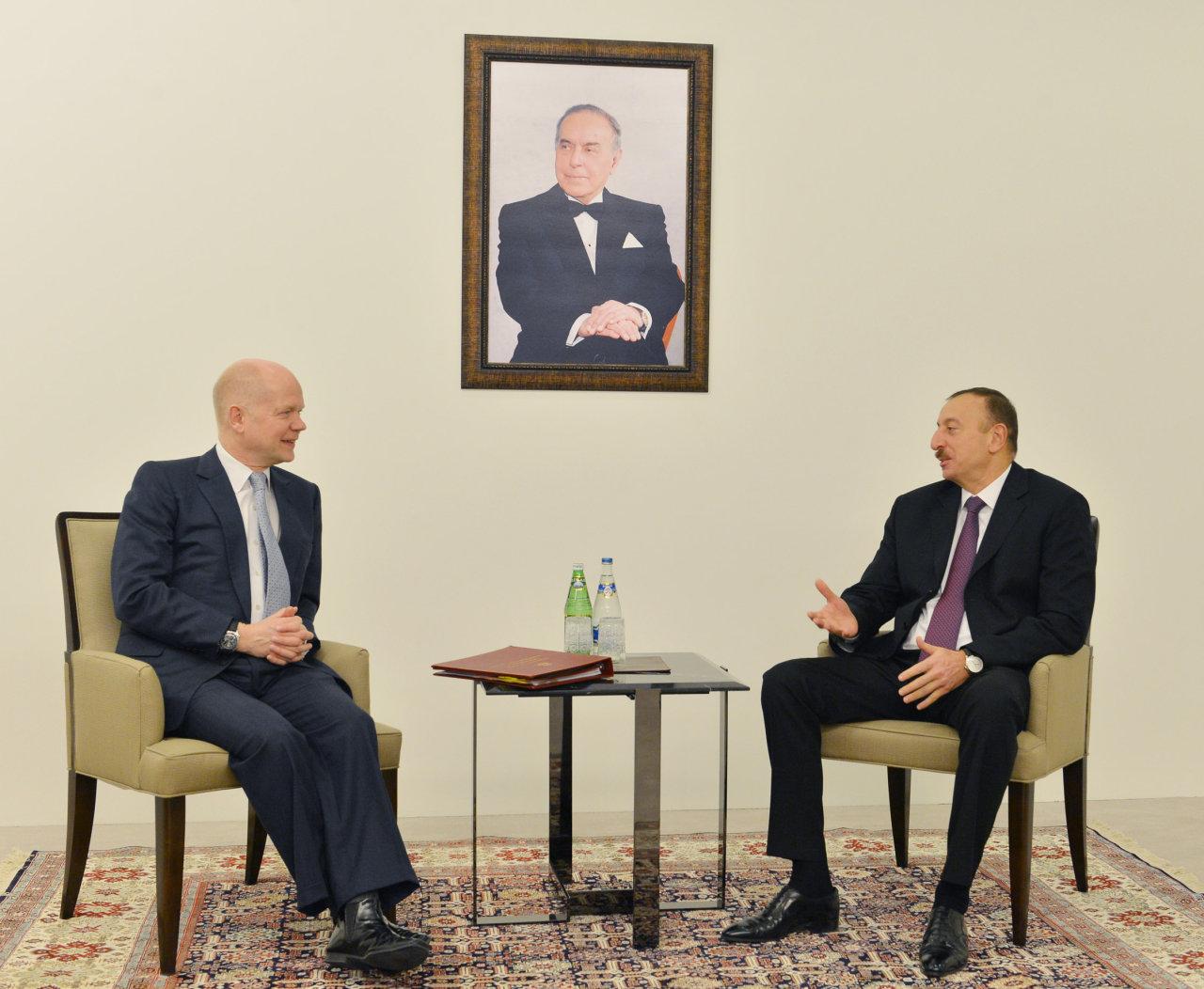 Azerbaijani president receives British Foreign Secretary