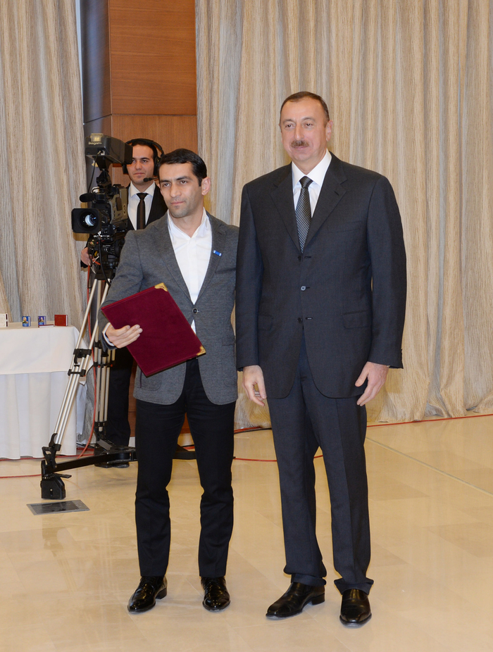 "Azerbaijani President Ilham Aliyev opens ""Shahdag"", ""Pik Palas"" hotels, and attends event dedicated to sports results of 2013 in Gusar District (PHOTO)"