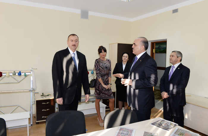 Azerbaijani president, first lady attend opening of Vocational Rehabilitation Center for Youth with Physical Disabilities (PHOTO)