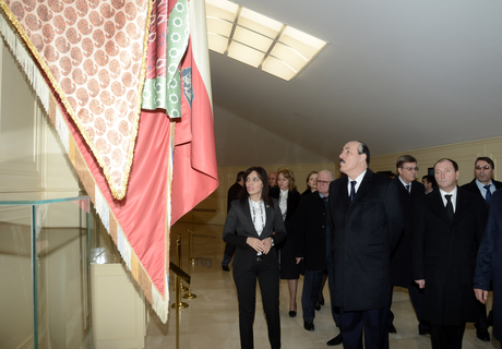 President of Dagestan visits National Flag Square in Baku (PHOTO)