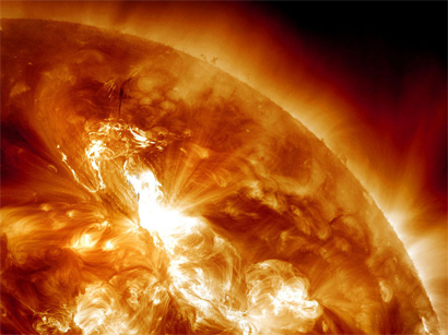 Large-scale solar flares may affect communications devices on Earth