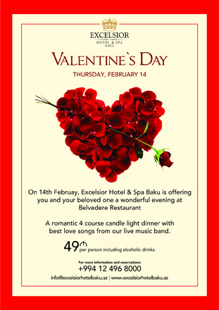 excelsior hotel baku to host special program on st. valentine's day, Ideas