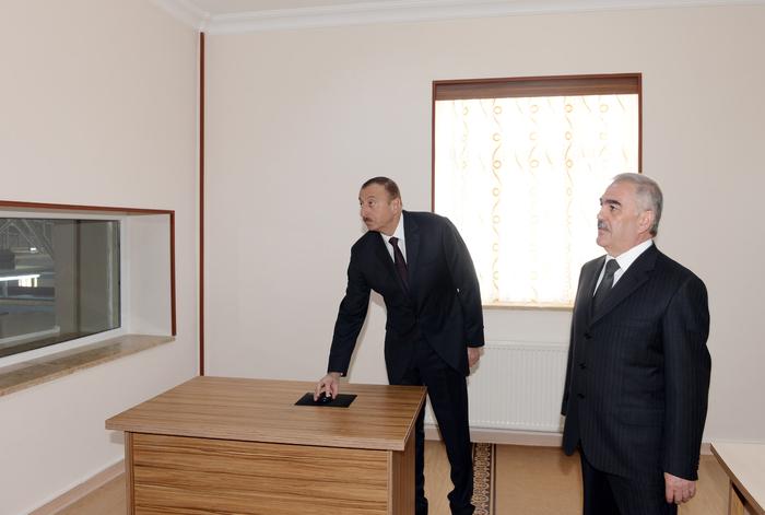 Azərbaycan Prezidenti Naxçıvan Şəhər Su Anbarı və Sutəmizləyici Qurğular Kompleksinin istifadəyə verilməsi mərasimində iştirak edib (FOTO)