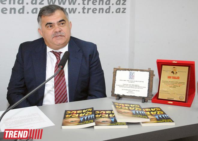 """Araşdırmaçı-yazar Arzu Nağıyevin """"Qara kabus"""" kitabı təqdim edilib (FOTO)"""