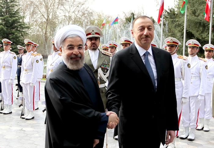 İranda Azərbaycan Prezidenti İlham Əliyevin rəsmi qarşılanma mərasimi olub (FOTO)