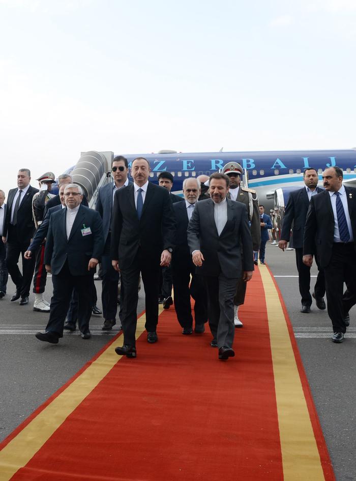 Prezident İlham Əliyevin İrana rəsmi səfəri başlayıb (FOTO)