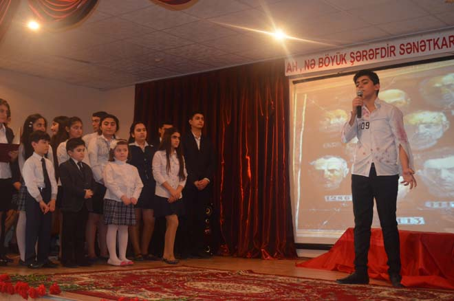 Bakının Nizami rayonunda Mikayıl Müşfiqin 105 illiyi qeyd olunub (FOTO)