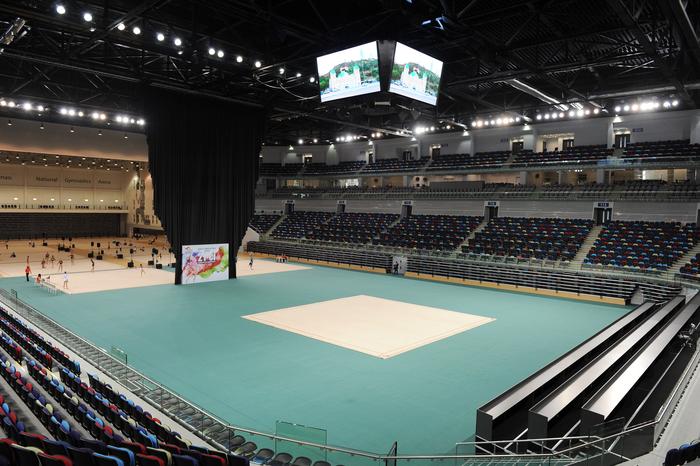 Prezident İlham Əliyev və xanımı Milli Gimnastika Arenasının açılışında iştirak ediblər (FOTO)