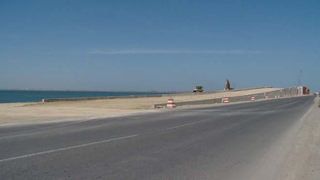Pirallahı adasını Bakı ilə birləşdirəcək körpüdə işlərin gedişatı açıqlandı (FOTO)
