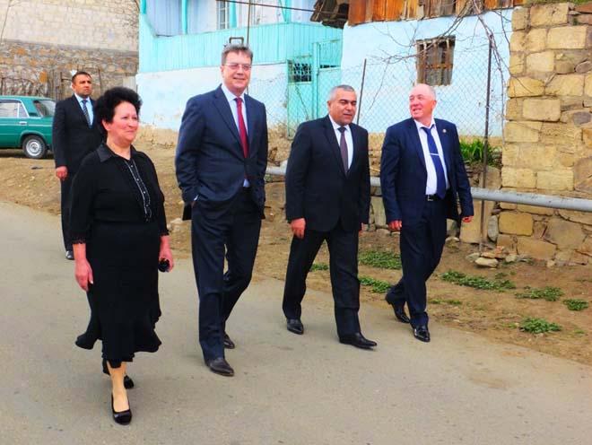 Rusiyalı diplomatlar Gədəbəy rayonunda olublar (FOTO)