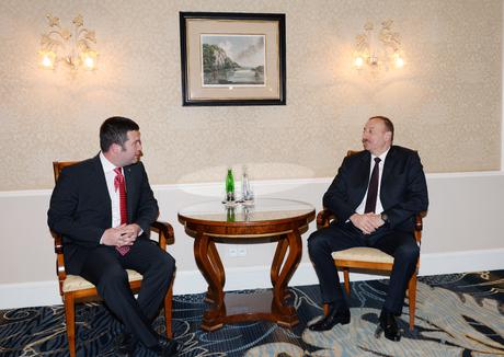 Prezident İlham Əliyev Çexiya Deputatlar Palatasının sədri ilə görüşmüşdür