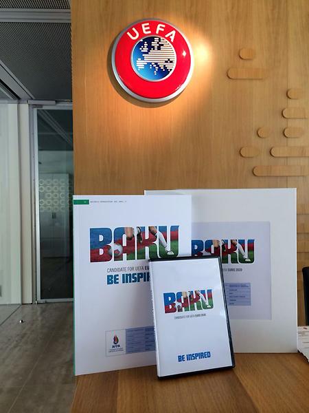 Avro-2020-nin Bakıda keçirilməsi üçün sifariş kitabı UEFA-ya təqdim olunub (FOTO)