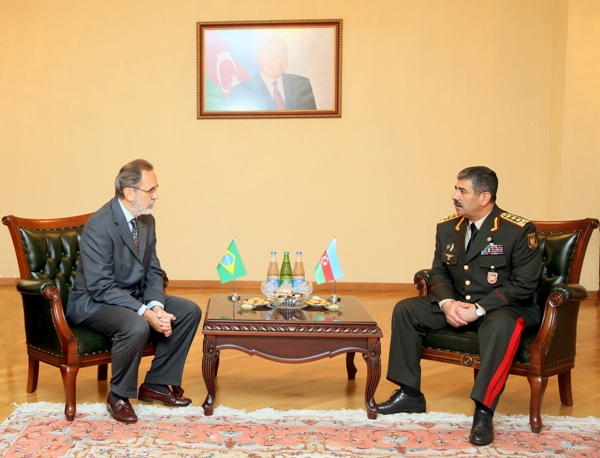 Azərbaycanın İran və Braziliya ilə hərbi əməkdaşlığı müzakirə edilib (FOTO)