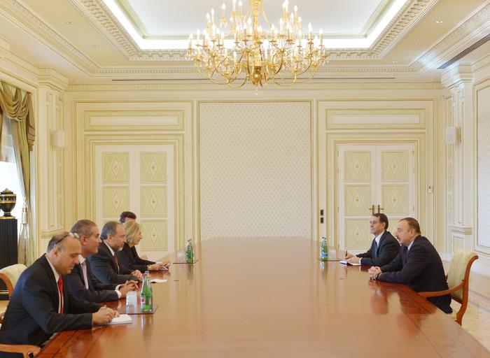 İlham Əliyev İsrailin xarici işlər nazirini qəbul edib